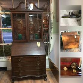 MaxSold Auction: This online auction features vintage mac computer, hurricane lamps, china, cast iron cookware, tools and much more