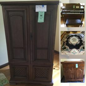 MaxSold Auction: This online auction features vintage furniture, collector plates, heater, small kitchen appliances, shop vacs, lane cedar blanket box, vintage postcards, electric organ, area rugs, yard tools, hummels, power & hand tools, costume jewelry, vintage hardware and much more!