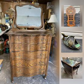 MaxSold Auction: This online auction features solid wood furniture, chandeliers, art deco, antique furniture, glassware, gold chains and much more!