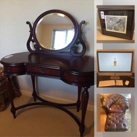 MaxSold Auction: This online auction features iMac desktop computer, area rugs, small kitchen appliances, coins & stamps, leather furniture, woodworks furniture, vacuums, TV, Moorcroft dish, swivel bar stools, framed artwork, costume jewelry, cedar chest and much more!