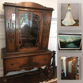 MaxSold Auction: This online auction features vintage costume jewelry, original artwork, art glass, Royal Doulton figures, vintage cabinet, area rugs, Asian ceremonial clothing, vintage toys & games, lead soldiers, vintage books and much more!
