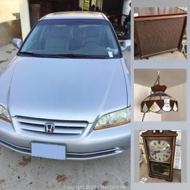 """MaxSold Auction: This online auction features collectibles such as coin collections, Hummels, Waterford crystal, and display plates, electronics such as 24"""" Insignia TV, Frigidaire washer and dryer combo, furniture such as wooden dressers, display cabinet, and wooden table with chairs, home decor, kitchenware, stained glass lamp, linens, silverware, handbags, women's accessories, ceramics, glassware, vintage cameras, framed prints, international dolls, office supplies, jewelry such as 10k gold ring, turquoise necklace, and costume jewelry and much more!"""