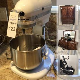 MaxSold Auction: This online auction features power & hand tools, exercise equipment, BBQ, men's business clothes, Drexel bedroom furniture, stereo components, wine fridge, small kitchen appliances and much more!