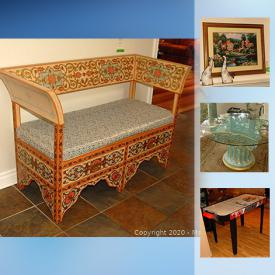 "MaxSold Auction: This online auction features collectibles such as Royal Albert, crystal ware, and Rosenthal, furniture such as IKEA futon, IKEA dressers, outdoor bistro set, pedestal table, rosewood cabinet, sofa bed, and inlaid bench, art such as original paintings, framed print, tapestry, and wood art, garden tools, planters, luggage, serving ware, DVDs, books, stemware, glassware, small kitchen appliances, home decor, pottery, area rugs, bookcases, gardening tools, Christmas decor, board games, brassware, electronics such as Sony stereo and 43"" Plasma TV, Sportcraft table hockey, exercise equipment, acoustic guitar, power tools such as Black and Decker drill, bedding and much more!"
