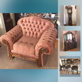 MaxSold Auction: This online auction features Cedar chest, decorative plates, figurines, art glass, grandfather clock, area rugs, small kitchen appliances, art pottery, TV, Satsuma vase, framed original art, oriental chest, bedroom furniture, desks, MCM furnishings and much more!