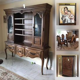 MaxSold Auction: This online auction features antique furniture, Bassett oriental furniture, sports equipment, area rugs, games, camping gear, TV, garden tools, hand tools and much more!