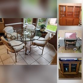 MaxSold Auction: This online auction features personal electronics, ornamental fountain, small kitchen appliances, Teak hutch, golf clubs, outdoor propane heater, Bbq grill, trunks and much more!