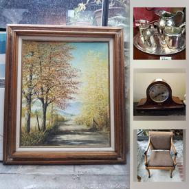 MaxSold Auction: This online auction features Christian Dior chinaware, art glass, antique decanter, Royal Crown Derby China, framed wall art, stressless chair, William Switzer armchair, medical bed and much more!