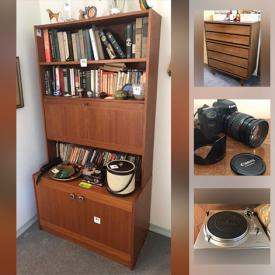 MaxSold Auction: This online auction features MCM Teak furniture, Moorcroft vase, art pottery, stereo components, art glass, chest freezers, bar fridge, IKEA cabinet, cameras, aluminum art, power & hand tools and much more!
