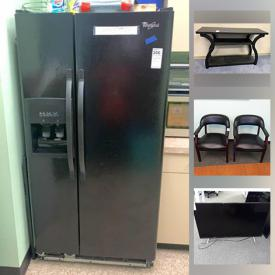 MaxSold Auction: This online auction features office furniture and equipment such as folding tables, office chairs, dry erase boards, filing cabinet, computer mouse and pads, keyboards, computer screens, cables, conference table, TVs, air conditioner, tables, bar stools, workstations, microwave, fridge and much more!