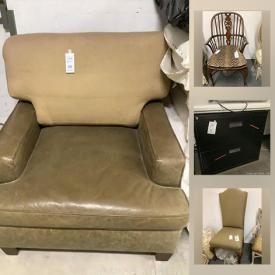 MaxSold Auction: This online auction features furniture such as stackable wooden drawers, personal wheel writer, filing cabinets, desk, wooden chairs, chair frames, upholstery fabric, tools, furniture legs, leather lounge chairs, pillows, ottoman, espresso machine, trim, fabric bolts, foam, buckets of paint and much more!