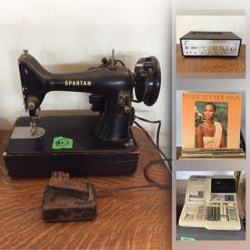 MaxSold Auction: This online auction features antiques, vintage toys, furniture, bicycles, watches, vintage sewing machines, vintage microscope, vintage patio set, wooden yokes, vintage vanity mirror, cash registers. balance machine and much more!