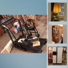 MaxSold Auction: This online auction features Mink coat, Brass four-poster bed, TV, Bose Sound system, figurines, Wicker furniture, Amber glass, vintage settee, office supplies, amall kitchen appliances, refrigerator, board games, jewelry and much more!