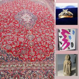 MaxSold Auction: This online auction features collectibles such as hockey and baseball cards, antique and vintage coins, stamps, vintage comics, vintage pencil sharpener collections and silver plate, art such as stained glass, original paintings with COA, small sculptures and framed prints, jewelry such as gold and diamond rings, sterling silver and costume jewelry, antique and vintage Persian wool rugs, antique blade decor and much more!