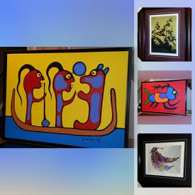 MaxSold Auction: This online auction features original paintings by Norval Morrisseau, Don Chase, and Fine Art Prints by Tom Thomson, Don Chase, Bruce Morrisseau, Benjamin Chee Chee, Lawren Harris and more!