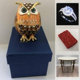 MaxSold Auction: This online auction features Asian Carved Statues, Jade Medallion, Wood Pedestals, Jewelry, Baseball Cards, .925 Sterling Silver, Cloisonné, Antique furniture, 14k Gold Jewelry, Wireless Chargers, Smartwatches, Precious Stones and much more.