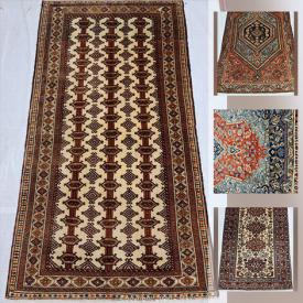 MaxSold Auction: This online auction features Zanjan, Mir, Baluchi, Ardebil, Turkmann, Bijar, Mashhad Handmade Persian Rugs, and machine-made rugs and much more!