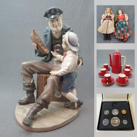 MaxSold Auction: This online auction features Lladro figurine, vintage parkas, antique book, Hydraulic lift jack, Royal Albert crown china, art glass, vintage Carlton ware, art pottery, Moorcroft vases, collector plates, vintage jewelry, stamps, military cap badges, coins and much more!