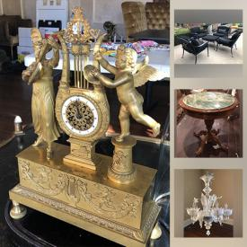 MaxSold Auction: This online auction features TVs, Florentine candelabras, wine chiller, Venetian chandeliers, Ray Caesar art, Hobby horse, telescope, patio set, basketball goal, toys, art pottery, sterling silver and much more!