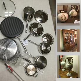 MaxSold Auction: This online auction features toys, stamps, leather wallets, Anri Ferrandiz collectibles, crafting & art supplies, art pottery, NIB Kitchenaid mixer, collector plates, La-Z-Boy recliner, purses, fur jacket, NIB Waterford crystal, jewelry and much more!