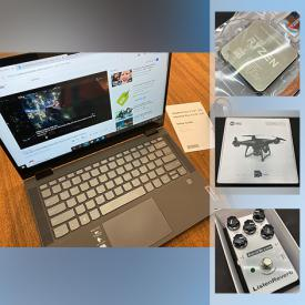MaxSold Auction: This online auction New in Open Box items such as Lenovo laptop, IPAD, metal detector, rechargeable TENS unit, printer, Mini 3d printer, gaming headsets, Nintendo Wii system, camera security, RC car, drone, massage gun fitness, watches, Rock tumbler, Android TV, computer RAM and much more!