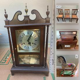 MaxSold Auction: This online auction features Seth Thomas wall clock, shop vacuum, Asian panels, small kitchen appliances, yard statues, rocking horses, hand tools, toys, vintage Star Trek items and much more!