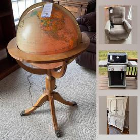 MaxSold Auction: This online auction features TV, Sebastian miniatures, recliners, art pottery, Weber grill, pewter collection, lighthouse collection, sewing machine, daybed, stamps, refrigerator, golf clubs, camping gear, craft supplies, power & hand tools and much more!