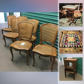 MaxSold Auction: This online auction features Ceramic Christmas tree, art glass, organizers, vintage Pepsi crate, folk art, garden decor, vintage early learning books, Apple crates, Bohemian jewelry, small antique trunk, antique dresser, Jacasin folding screen art and much more!