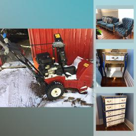 MaxSold Auction: This online auction features Trundle beds, framed art, small kitchen appliances, Coalport dishes, air beds, cast iron stove, snow blower, fitness equipment, patio furniture, pet supplies, power & hand tools, Muskoka chairs and much more!