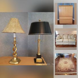 MaxSold Auction: This online auction features floor rugs, sterling silver jewelry, electronics, artwork, recliners, tools and much more!