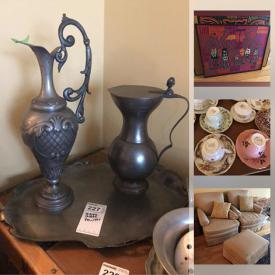 MaxSold Auction: This online auction features depression glass, steamer trunks, teacups, small kitchen Appliances, pottery, camping gear, fitness gear, photographer equipment, hand tools, board games, vintage toys, stamps, currency, costume jewelry, cameras, sewing machine, quilting supplies and much more!