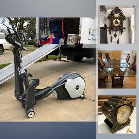 MaxSold Auction: This online auction features Weber gas grill, inversion table, Origami collapsible shelving units, beauty items, game boy, vintage percolator, elliptical, guitar, The Lenox village items, small kitchen appliances, cake decorating supplies and much more!