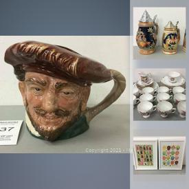 MaxSold Auction: This online auction features Colclough Bone China, tools, new in open box perfumes, video games, vintage star wars toys, vintage meat grinder, shop-vac, mini-fridge, Toby mug, artwork and much more!
