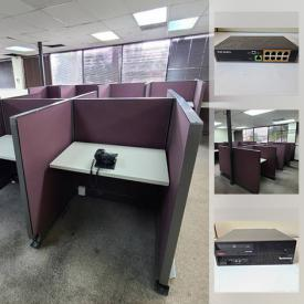 MaxSold Auction: This online auction features office cubicles, networking equipment, battery backup systems, Dell Optiplex mini PCs, computer keyboards, Dell & Lenovo desktop computers, business phones and much more!