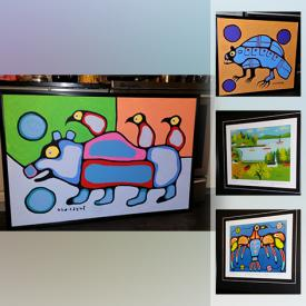MaxSold Auction: This online auction features original paintings by Norval Morrisseau with COAs, framed prints by Maud Lewis, Henry Matisse, Tom Thomson, Bruce Morrisseau, Christian Morrisseau, Chief Henry Speck, Don Chase and more!