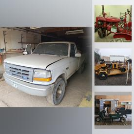 MaxSold Auction: This online auction features tools such as a metal bandsaw, compressor, hydraulic jacks, pressure washer, clamps, chainsaw blower cans, sand bead blaster, lawnmower seeder, compressor and more, chairs, car tires, 1930s restored Farmall, engines, glass insulators, tarps, survey equipment, 1992 Ford F250 truck and much more!