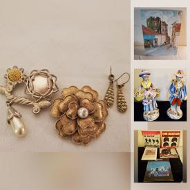 MaxSold Auction: This online auction features Vintage Jewelry, Stamps, Vintage LPs, Coins, Watches, Lee Martin Prints, Framed Wall Art, Limoges Figurines and much more!