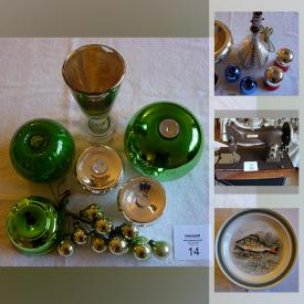 MaxSold Auction: This online auction features antique table, trunks, drafting table, desk lamp, art, Mercury glass, vintage Christmas, gardening and more.