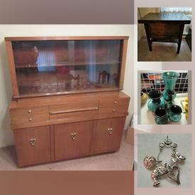 MaxSold Auction: This online auction features vintage Corningware, costume jewelry, vintage blue mountain pottery, cookie jar, art pottery, sterling silver jewelry, vintage spoon collection, TV, antique glass bottles, vintage clothing and much more!