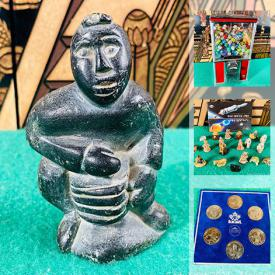 MaxSold Auction: This online auction features Inuit soapstone carvings, Star Wars legos, antique bronze door knockers, coca-cola collectibles, vintage Hockey Jerseys, portable air tank, Mary Ayaq Anowtalik artwork, stamps, coins, miniature plates, model trains and much more!