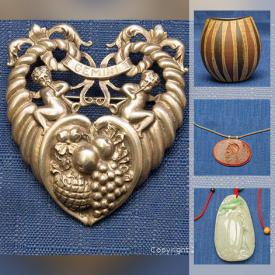 MaxSold Auction: This online auction features Jade jewelry, silver rings, Carved coral necklace, bird sculptures, carved boxwood sculpture, Disney etching, IITTALA glassware, vintage postcards, Chinese coins and much more!