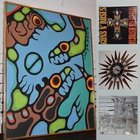 MaxSold Auction: This online auction features original Norval Morrisseau painting with COA, LPs such as Aerosmith, Joan Jett, and Steve Earle, pinwheel crystal ware and much more!