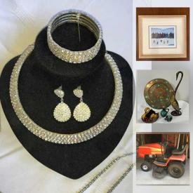 MaxSold Auction: This online auction features Vintage Jewelry, Guitar, Riding Mower, Power Tools, Small Kitchen Appliances, Framed Artwork, Blue Mountain Pottery, Wetsuit, LCD TV, Collectible Teacups, and Much, Much, More!!