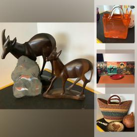 MaxSold Auction: This online auction features art glass, vintage advertisement, South African decor, Disney Animation gallery, vintage books, mountain bike, Harley Davidson ware and much more!