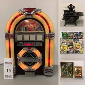 MaxSold Auction: This online auction features pink depression glass, art glass, steel drum, vintage lighters, cast iron toys, Movie posters, vintage books, collectible plates, vintage cameras, Market Forge grill and much more!