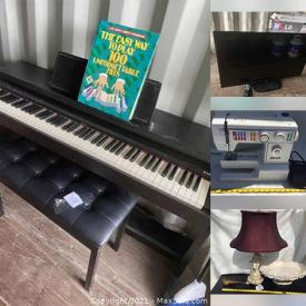 MaxSold Auction: This online auction features Power, Hand & Garden Tools, Digital Piano, Patio Furniture, TV, Pet Supplies, Electric Fireplaces, Small Kitchen Appliances, Office Supplies, Inspirational Signs, Sewing Machine, Fashion Jewelry, Binoculars, Mini Drone, Camping Gear and much more!