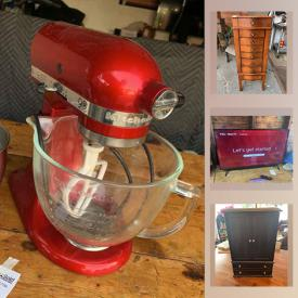 """MaxSold Auction: This online auction features collectibles such as silver plate, sterling silver, and Limoges, electric folding scooter wheelchair, furniture such as pine dining table, art such as framed posters, and framed prints, electronics such as 40"""" Roku Smart TV, Beats by Dre speakers, Yamaha speakers, and Kenwood turntable, small kitchen appliances, jewelry such as sterling silver, jade, and costume jewelry, books, accessories, glassware, dishware, kitchenware, power tools such as Ryobi miter saw, planters, outdoor decor, CDs, records, home decor, small home appliances and much more!"""