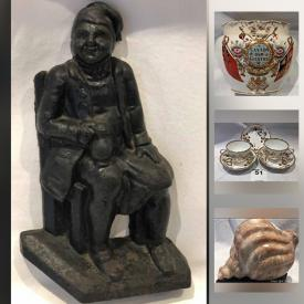 MaxSold Auction: This online auction features antique clock, Wedgwood biscuit jar, Fenton cranberry, carnival glass, Cloisonne vase, San Gimignano plates, Majolica pitcher, Wedgwood lighters and much more!