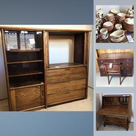 MaxSold Auction: This online auction features Franciscan dinnerware, refrigerators, small kitchen appliances, trundle day bed, printer, office supplies, TVs, garden supplies, washer & dryer, garden tools and much more!
