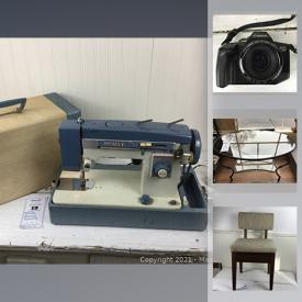 MaxSold Auction: This online auction features vintage salt & pepper collection, TV, Rokenbok STEM toy, board games, sewing machine, stereo components, binoculars, cameras, depression glass, vintage clothing and much more!